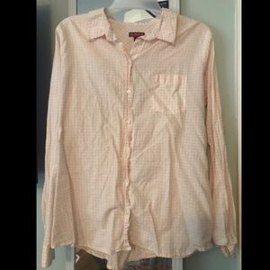 Pink gingham button up
